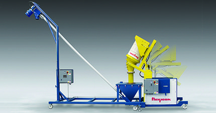Flexicon's Mobile TIP-TITE® Drum Tipper allows dust-free dumping of bulk solid materials from drums