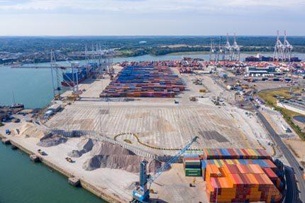 DP World Container park Southampton